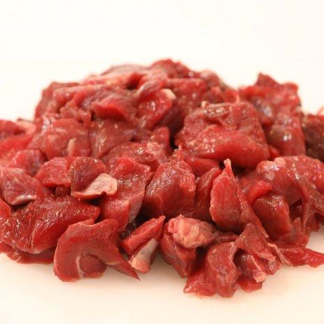 Mager vlees bestemd voor Hachee of Goulash - 500 gram
