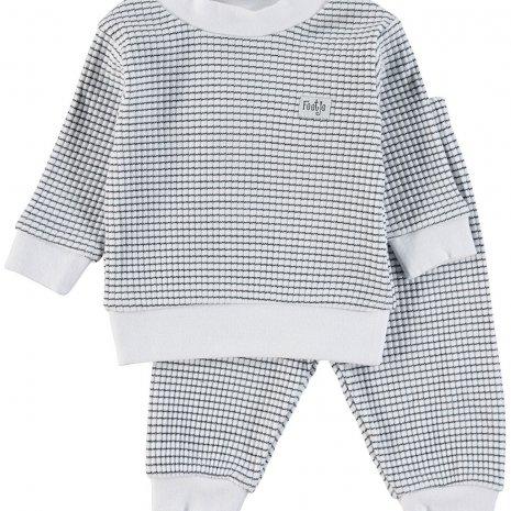 Feetje Pyjama - wafel Marine