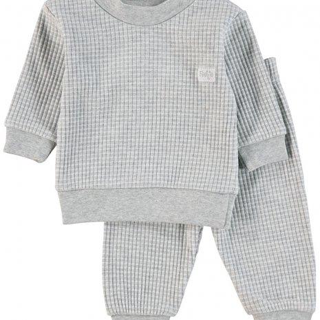 Feetje - Pyjama wafel Grijsmelee