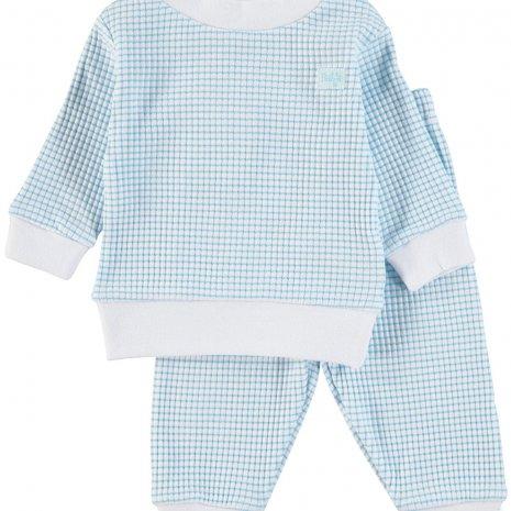 Feetje Pyjama wafel - Azuur
