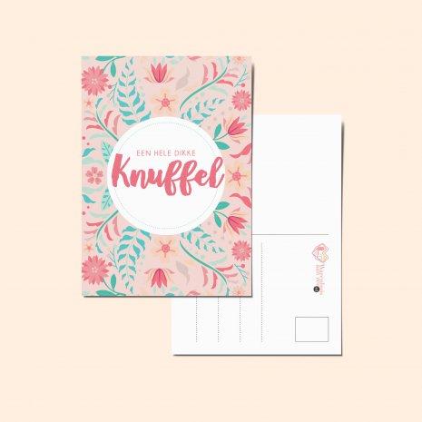 Ansichtkaart - Een dikke knuffel <3