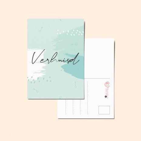 Ansichtkaart - Verhuisd