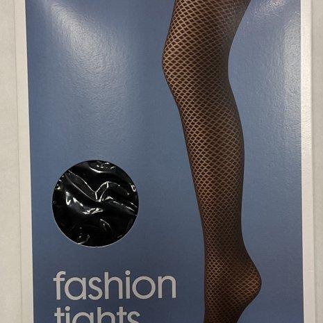 Fashion panty diamant zwart mt. 44/46