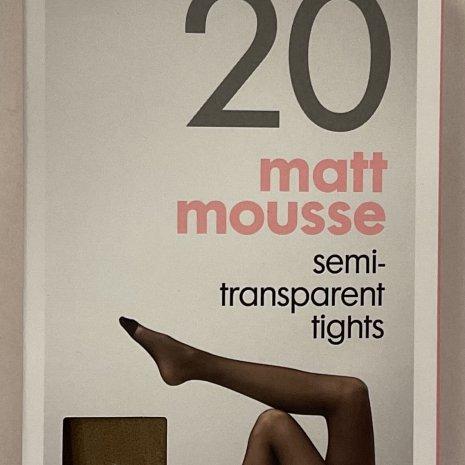 4-pak mat panty's 20 denier naturel mt. 36/38