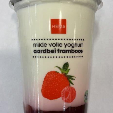 Aardbei/framboos yoghurt