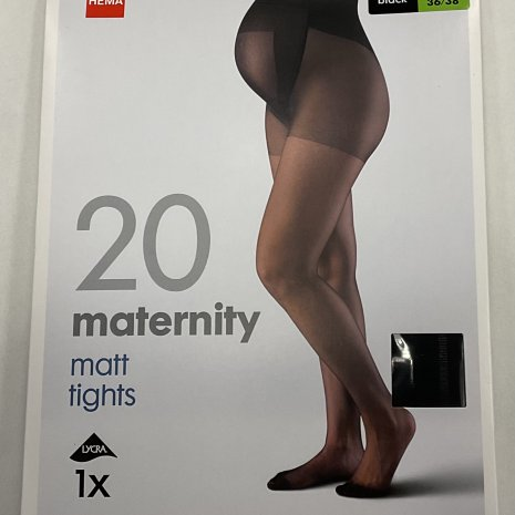 Zwangerschapspanty 20 denier zwart mt. 40/42
