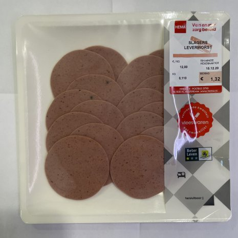 Slagers leverworst 110 gram