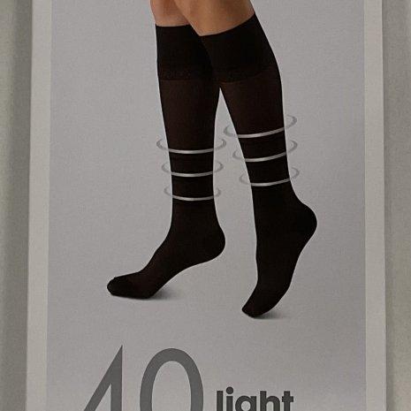 2-pak kniekousen licht ondersteunend zwart mt. 43/46