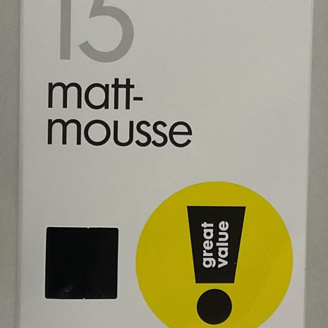 Panty mat/mouse 15 denier 2-pak mt. 48/52