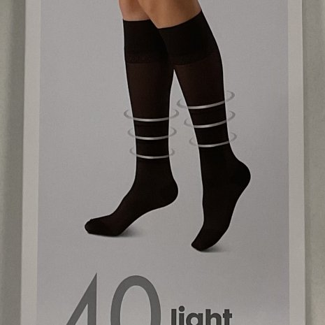 2-pak kniekousen licht ondersteunend zwart mt. 39/42