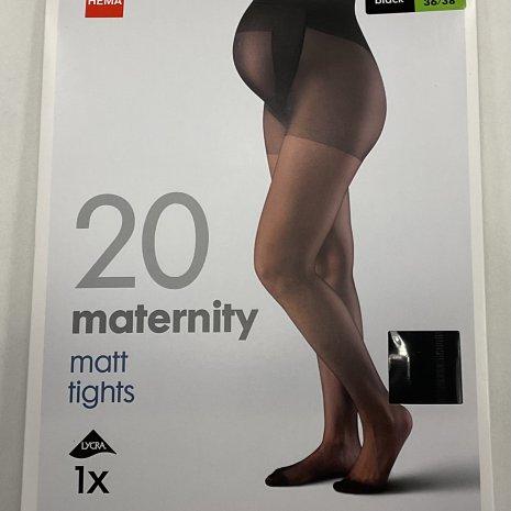 Zwangerschapspanty 20 denier zwart mt. 36/38