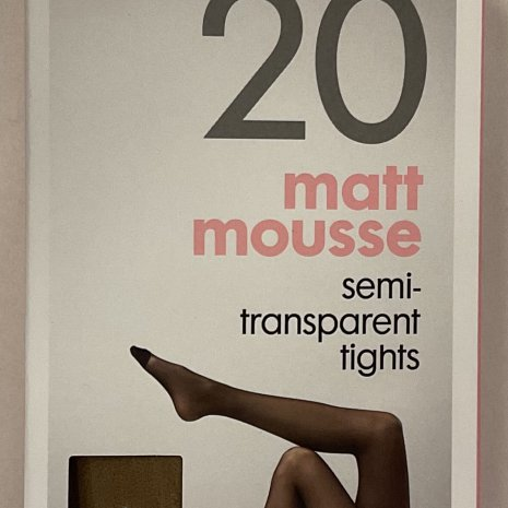 4-pak mat panty's 20 denier naturel mt. 48/52