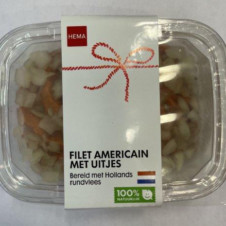Filet american met uitjes