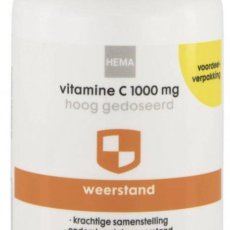 Vitamine c1000 mg hoog gedoseerd voordeelverpakking
