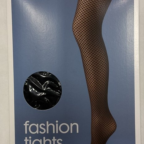Fashion panty diamant zwart mt. 48/52