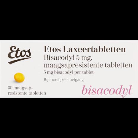 Etos Laxeertabletten Bisacodyl 5 mg