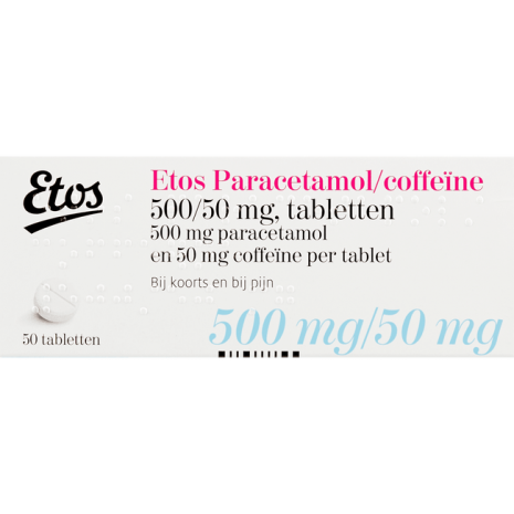 Etos Paracetamol/Coffeïne Tabletten 500/50 mg