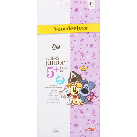 Etos Woezel & Pip Luiers Voordeelpak Junior Plus 5+