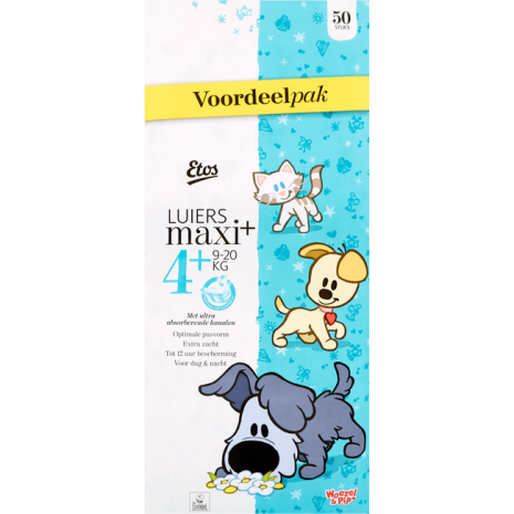 Etos Woezel & Pip Luiers Voordeelpak Maxi Plus 4+