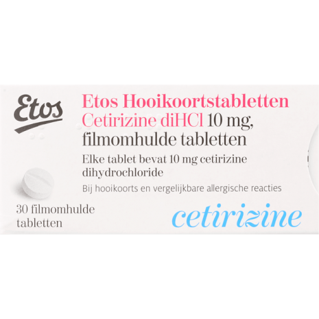 Etos Hooikoortstabletten Cetirizine DiHCl 10 mg