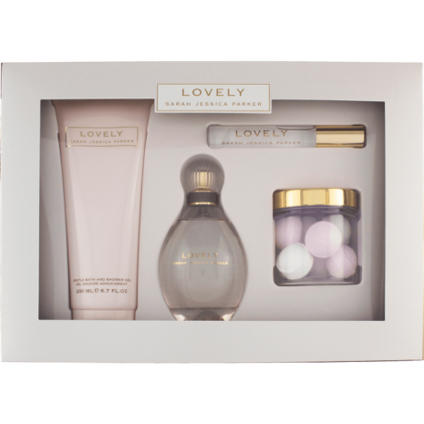 Sarah Jessica Parker Cadeauset: Lovely Eau De Parfum, Rollerball , Bath Bombs And Shower Gel